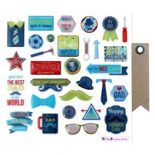 30 epoxy stickers for scrapbooking -...