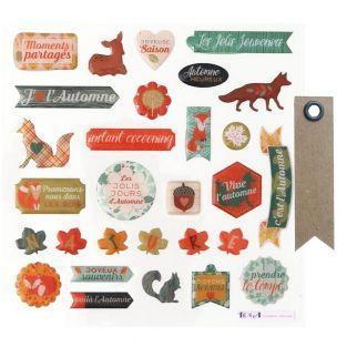 29 stickers epoxy Automne + 20...
