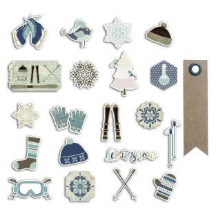20 scrapbooking die-cuts - Frosted...
