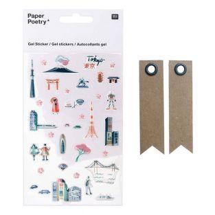 Transparent gel stickers - Tokyo + 20...