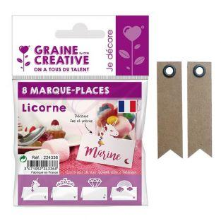 8 marque-places Licorne + 20...