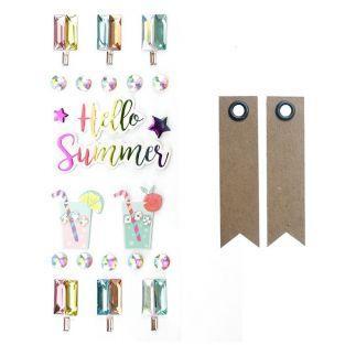 22 3D stickers - Hello Summer + 20...