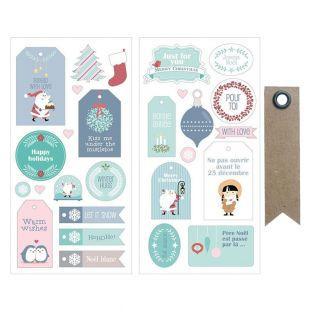 27 Stickers puffies Père Noël + 20...