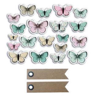 20 formes découpées Papillons + 20...