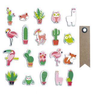 20 scrapbookings die-cuts - Cactus...