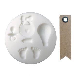Mini molde de silicona para masa FIMO...