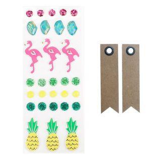 30 3D-Aufkleber - Flamingos und...