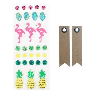 30 3D stickers - flamingos and...