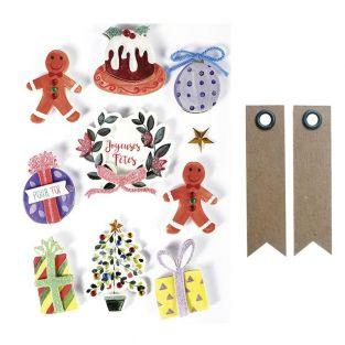 3D stickers x 10 - Christmas...