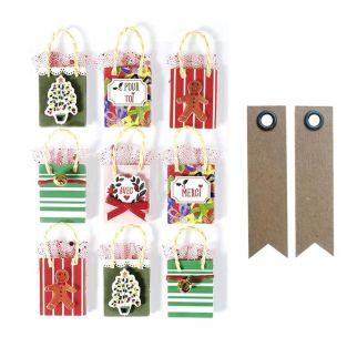 3D Christmas stickers x 9 - Gift bag...