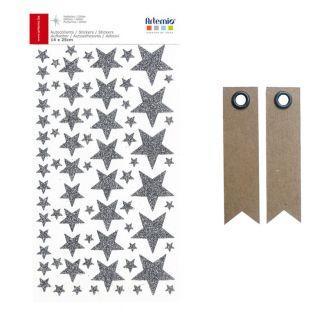 Stickers étoiles à paillettes...