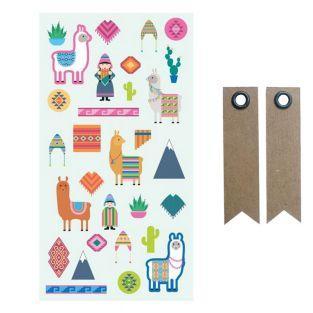 Puffy Sticker - Lamas & Alpaka + 20...