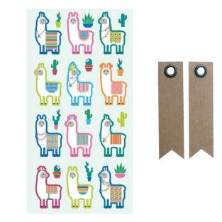 Puffy Sticker - Lamas & Kaktus + 20...