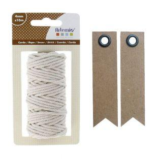 Cotton twine for macrame 10 m- Beige...