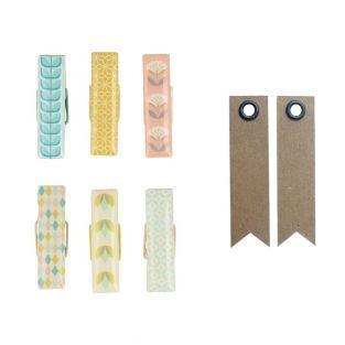 6 Epoxy clothespins - ScandiSweet +...
