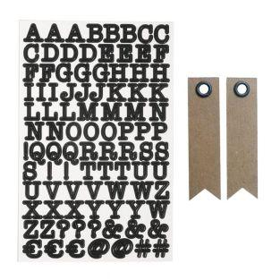 Alphabet & numbers Stickers - Black +...