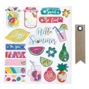 21 3D Sticker - Süßer Sommer + 20...