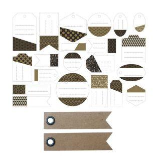 21 perforated labels -...