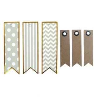 20 metal effect labels - Pennant - 7...