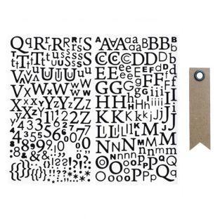 Alphabet Sticker - Schwarz Glitzer +...