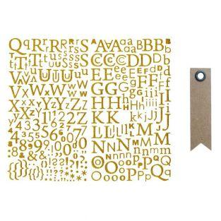 Glitter-Gold Alphabet sticker + 20...
