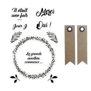 Tampons transparents 9 x 14 cm Amour...