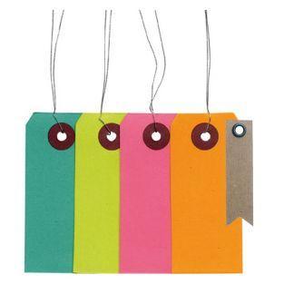 Etiquettes de couleur avec fil métal...