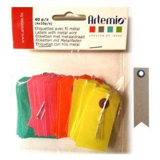 Mini étiquettes Kraft couleur + 20...