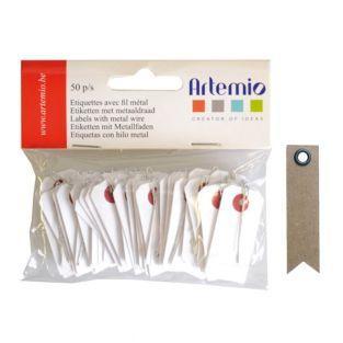 Mini Etiquetas blancas con alambre 2...
