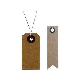 Etiquettes kraft 4 x 2 cm avec fil...