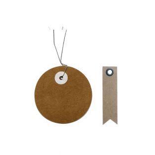 Etiquettes kraft rondes Ø 5 cm avec...
