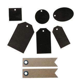 36 black wooden labels + 20 pennant...