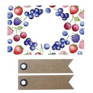 Etiquetas de mermelada x 100 - Frutas...
