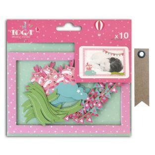 10 Die-cut cards Polaroid Joséphine +...