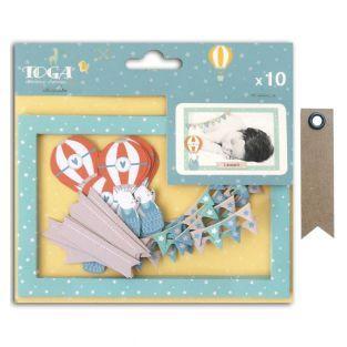 10 tarjetas cortadas Polaroid...