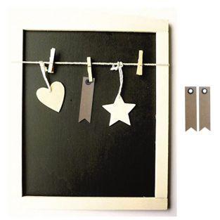 Tabla pizarra con cuadro de madera +...