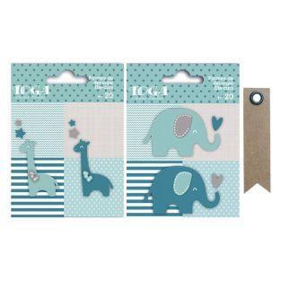 40 Stanzmotive Elefanten & Giraffen -...