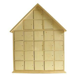 Wood House Advent Calendar 44 x 35 cm