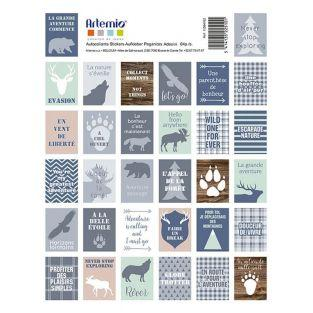 64 stickers timbres Woodland