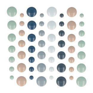 64 demi-perles adhésives Woodland