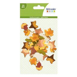 25 feuilles d'arbre en papier - Automne