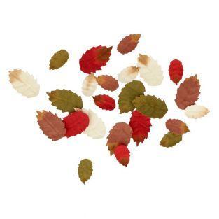 24 Papierbaumblätter - Herbst