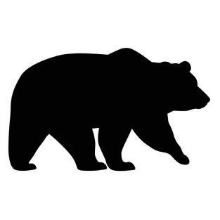 Stanzschablone - Bär