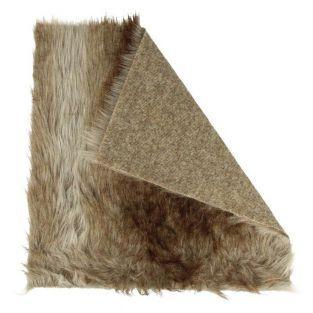 Fausse fourrure grise 29 x 29 cm