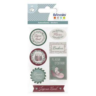 Stickers de Noël Isatis
