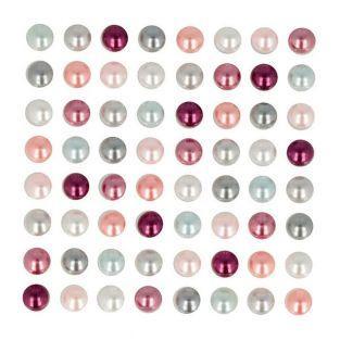 64 demi-perles autocollantes Isatis