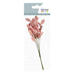 Rama de hojas rosa 17 cm