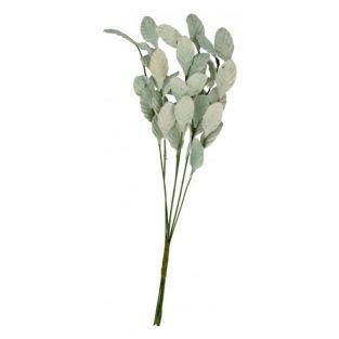 Rama de hojas verde pastel 17 cm