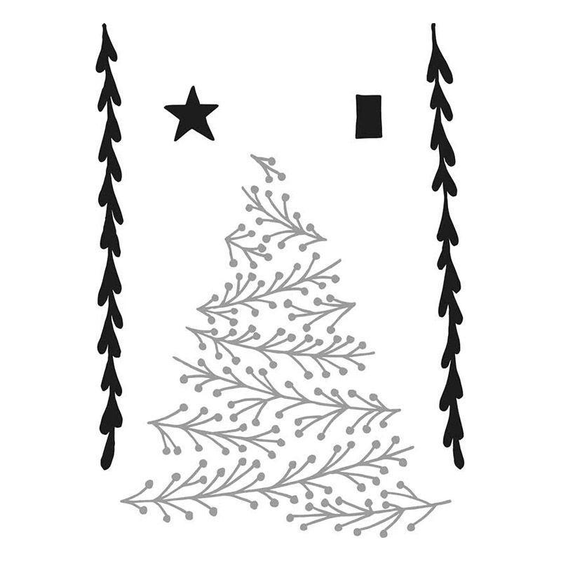 Matrice De Découpe Et Dembossage 95 Cm Sapin Décor De Noël