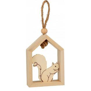 Wooden hanging house 15 x 12 cm -...